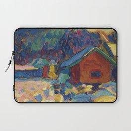Winterstudie mit Berg by Vassily Kandinsky Laptop Sleeve