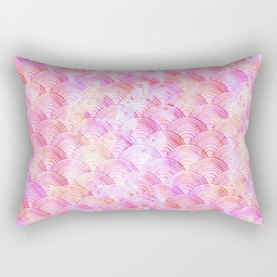 Pink waves pattern Rectangular Pillow
