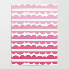 Mordidas Gradient Pink Poster