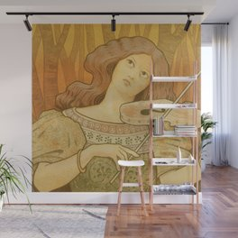 Violin lessons vintage French advertising Wall Mural