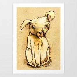 Ugly dog II Art Print