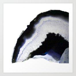 Blue syrup Agate Art Print