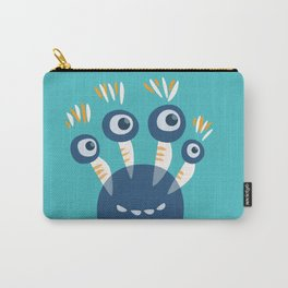 Cute Blue Four Eyed Monster Carry-All Pouch