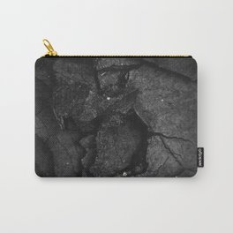Black Texture (Black and White) Carry-All Pouch