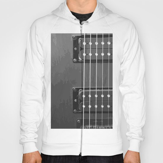 Black and White Guitar Hoody