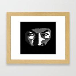 RIP Nicky Hayden 69 - black and white helmet portrait popart Framed Art Print