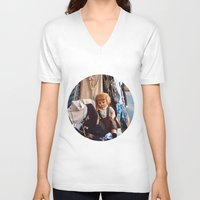 doll V-neck T-shirts featuring Doll by Jimmy Duarte