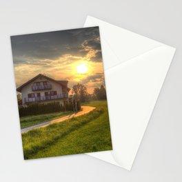Saint Lorenz Austrian Alps Sunset Stationery Cards