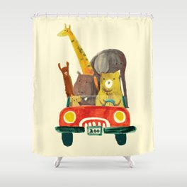 Visit the zoo Shower Curtain