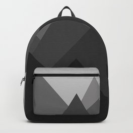 Black and White Abstract Mountains Backpack