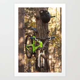 Mountain Biking in the Midwest Art Print
