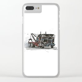 Tow-truck Clear iPhone Case