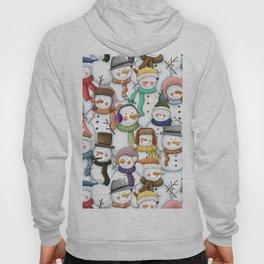 Happy Snowmen Pattern Hoody