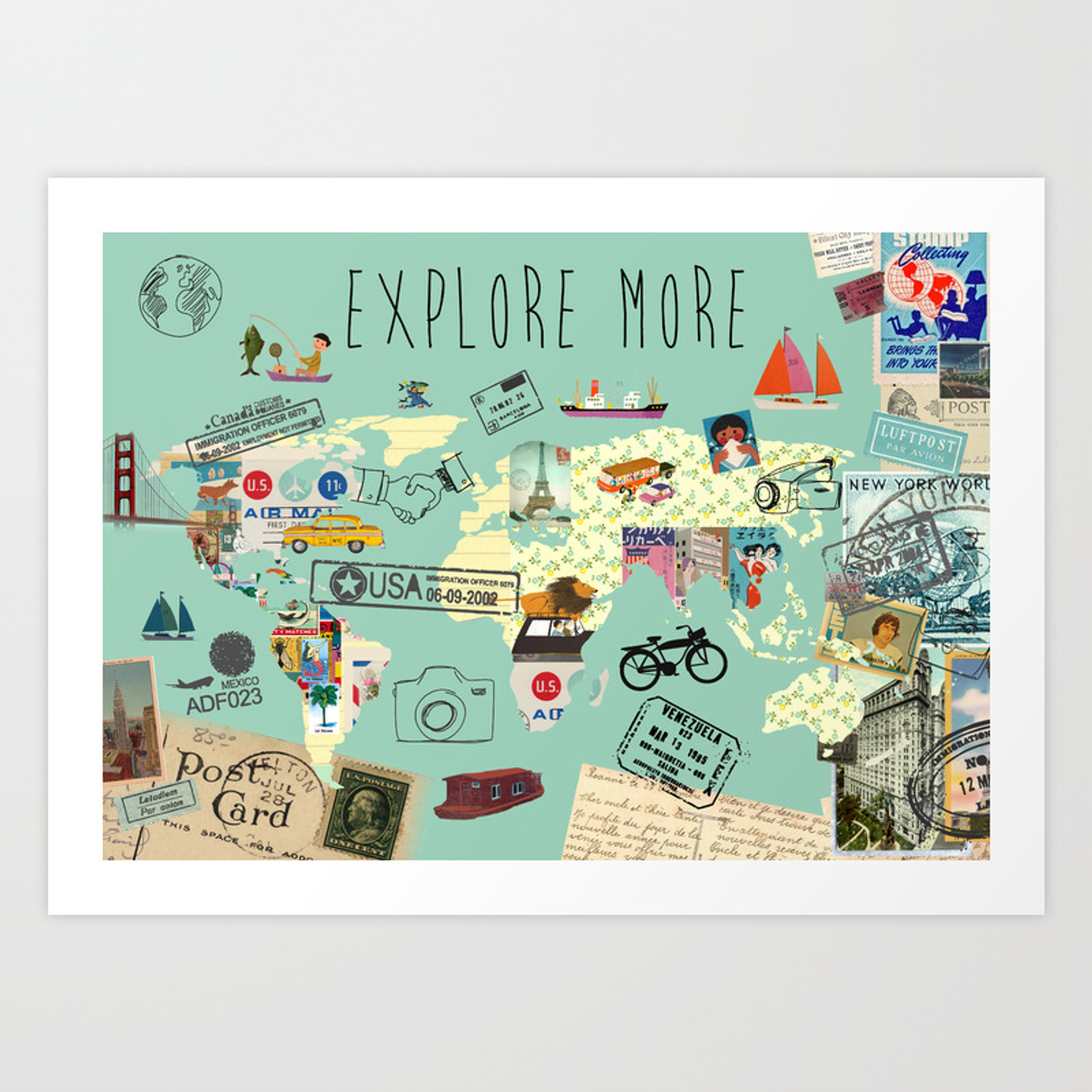 Explore More World Map Collage Art Print on map slide show, map travel, map facebook covers, map creator, map pencil, map in india, map gift tags, map in europe, map still life, map de france, map making, map of college football teams, map major rivers in australia, map with mountains, map with states, map distance between cities, map of dallas texas and surrounding areas, map vintage, map in spanish, map history,
