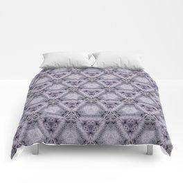 Pale Purple Pyramids Comforters