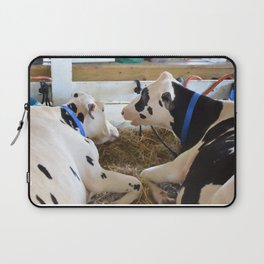 Pair Of Black And White Cows 2 Laptop Sleeve