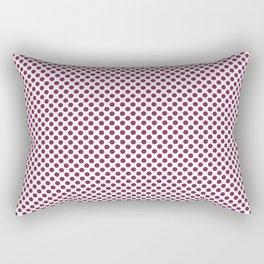 Raspberry Radiance Polka Dots Rectangular Pillow