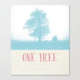 Wine Label - One Tree Canvas Print