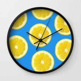 lemon pattern fruit Wall Clock