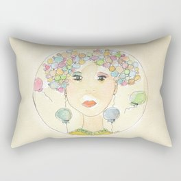 Thoughts flying Rectangular Pillow