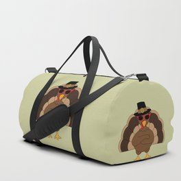 Cool Turkey with sunglasses Happy Thanksgiving Duffle Bag