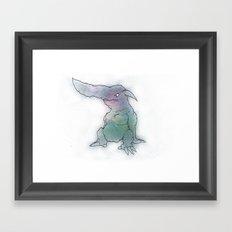 Monsters From the Floor Tiles Framed Art Print