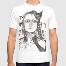 Recuerdos White Mens Fitted Tee SMALL