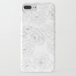 Peony Flower Pattern iPhone Case
