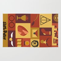 harry potter Area & Throw Rugs featuring Potter by Polvo