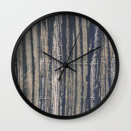 Gray blue striped Wall Clock