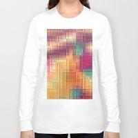 tetris Long Sleeve T-shirts featuring Colored Tetris by jbjart