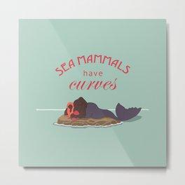 Sea Mammals have Curves Too Metal Print