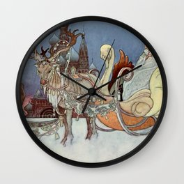 """The Happy Princess"" Fairy Art by Charles Robinson Wall Clock"