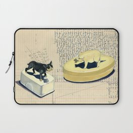 Vintage Pig and Dog Celluloid Boxes in Gouache Laptop Sleeve