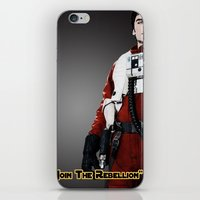 poe iPhone & iPod Skins featuring Poe by KL Design Solutions
