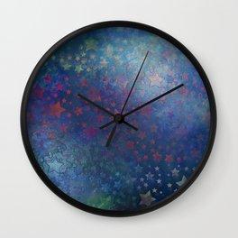"""""""Indigo night of stars and dreams"""" Wall Clock"""