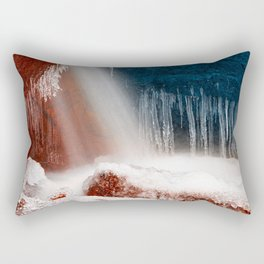Winter Harmony Stream - Red White & Blue Rectangular Pillow