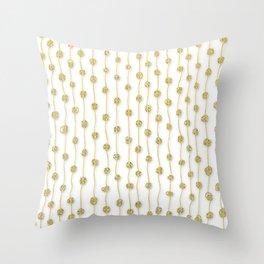 Raining Gold Glitter Confetti - Luxury golden design Throw Pillow