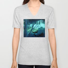 Shadow Wolves Stalk The Silver Wood Unisex V-Neck