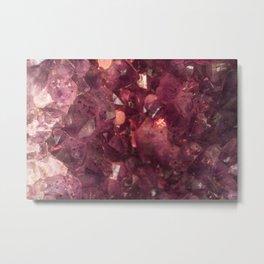 Red Crystals II Metal Print