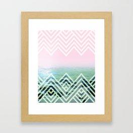 Bermuda Sky Pattern Framed Art Print
