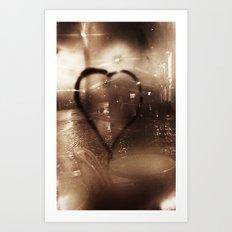 love in paris Art Print