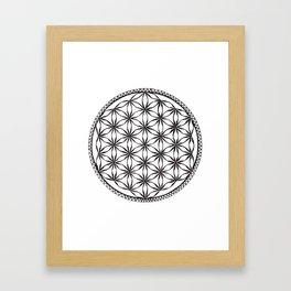 Flower of Life (b&w) Framed Art Print