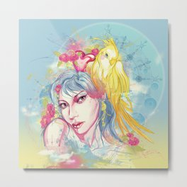 Parrot beauty going to a party Metal Print