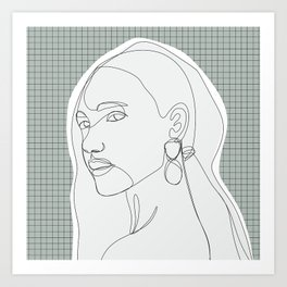 Pretty Girl Art Print