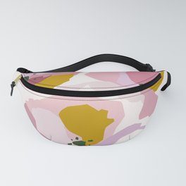 Pink Abstract Poppies by The Botanical Study Fanny Pack