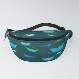 Origami paper boats Fanny Pack