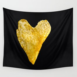 Heart Shaped Potato Chip Wall Tapestry