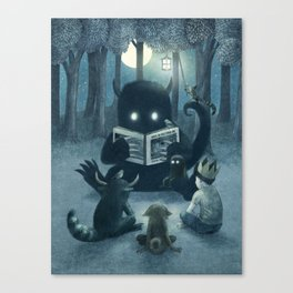 Reading Circle Canvas Print