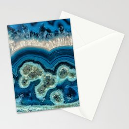 Blue Agate slice Stationery Cards